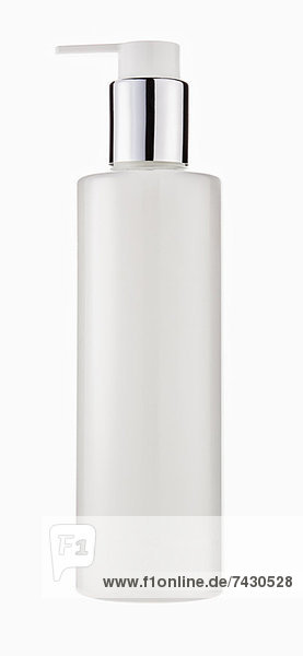 Close up of lotion bottle with pump
