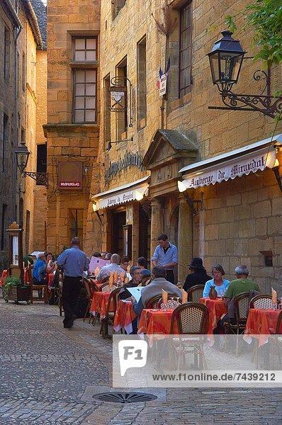 Frankreich Europa Altstadt Dordogne
