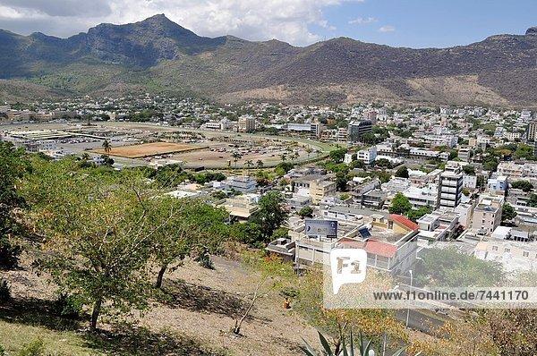 Port Louis Hauptstadt Großstadt Ansicht Festung Adelaide Mauritius