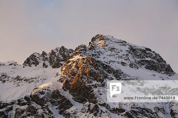 Europa Kanton Graubünden Sils im Engadin Sils-Maria Schweiz