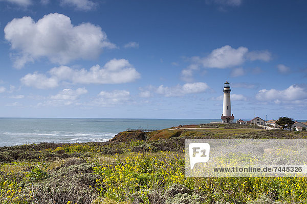 Leuchtturm  Pigeon Point  Big Sur  Kalifornien  USA