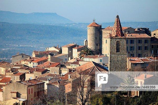 Medieval village of Callian  Var  83  Provence  PACA  France.
