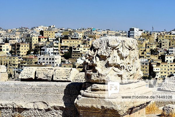 Amman Hauptstadt Ansicht Zitadelle Innenstadt