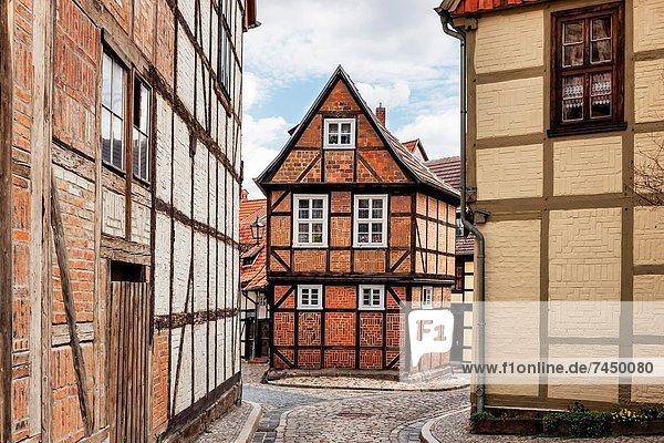 Europa , Gasse , unterhalb , Deutschland , Quedlinburg , Sachsen-Anhalt