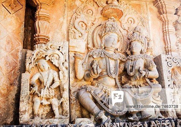 niedrig  Statue  Ansicht  Flachwinkelansicht  Winkel  Indien  Karnataka