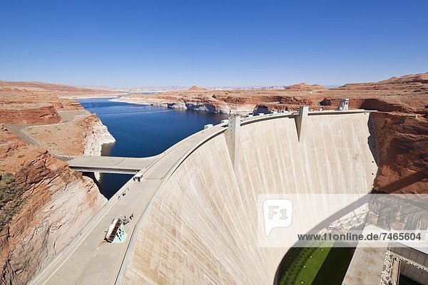 Glen Canyon Dam  Lake Powell  Page  Arizona  United States of America  North America