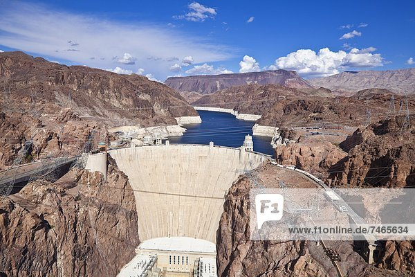 Hoover Dam  Lake Mead Reservoir  Boulder City  Nevada  United States of America  North America