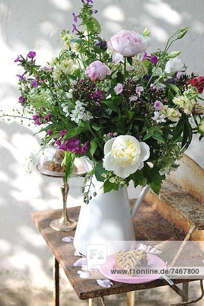 Außenaufnahme Blume Bündel Kuchen freie Natur