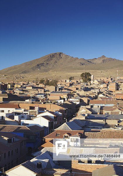 View of Potosi  UNESCO World Heritage Site  Bolivia  South America