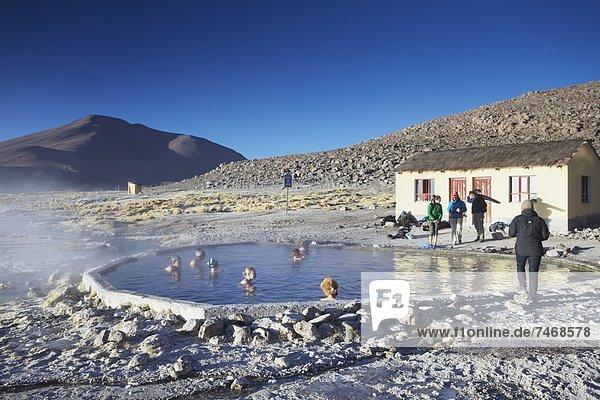 Quelle  Wärme  Tourist  Bolivien  Südamerika