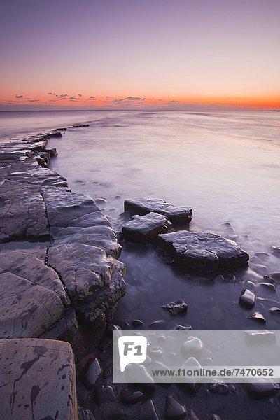 Europa  Sonnenuntergang  Großbritannien  Küste  UNESCO-Welterbe  Bucht  Dorset  England