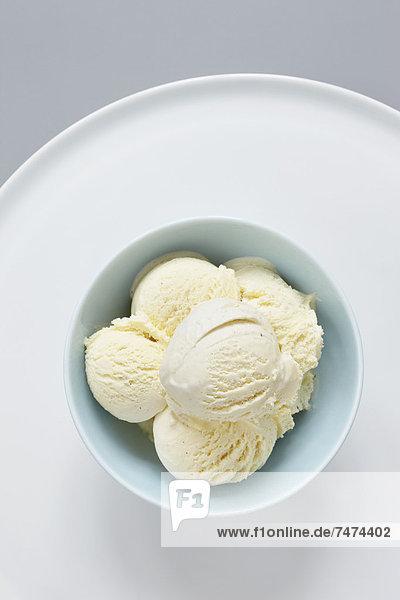 Eis  Gewürzvanille  Vanille  Sahne
