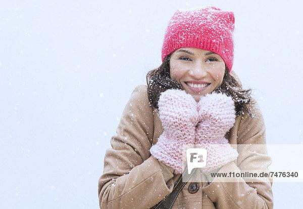 Portrait  Frau  Winter  Kleidung