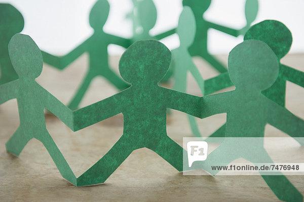 Freisteller  Mensch  Papier  Silhouette  grün