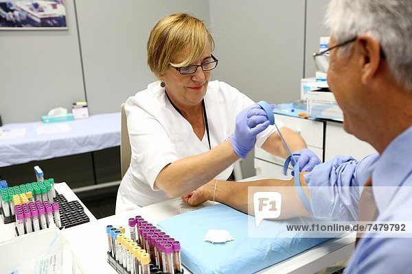 Blood extraction  Onkologikoa Hospital  Oncology Institute  Case Center for prevention  diagnosis and treatment of cancer  Donostia  San Sebastian  Gipuzkoa  Basque Country  Spain