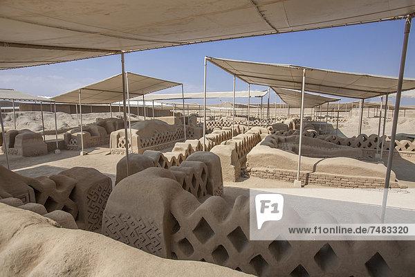 Tschudi-Bereich der Ruinen von Chan Chan  UNESCO Weltkulturerbe  Trujillo  Peru  Südamerika