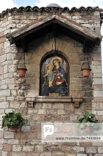 Kirchenbild  Madonnenbild  Altstadt  Zentrum  Assisi  Italien  Europa