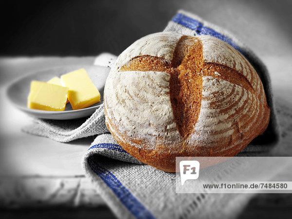 Englisches Roggenbrot  Brotlaib