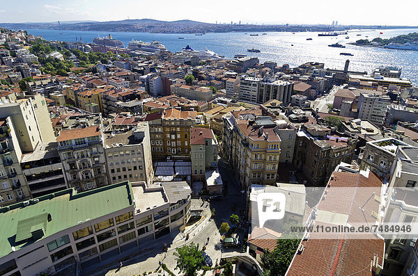 View from the Galata tower on the city  Istanbul  Turkey  Middle East