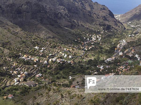 Europa  Spanien  La Gomera  Blick auf das Valle Gran Rey