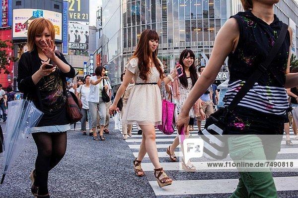Großstadt  Tokyo  Hauptstadt  Shibuya  Asien  Japan
