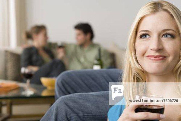 Portrait  Frau  lächeln  Hintergrund