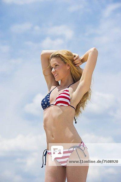 Portrait einer Frau in bikini