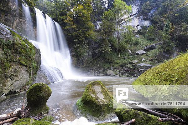 Der Höchfall bei Teufen  Appenzell Ausserrhoden  Schweiz  Europa  ÖffentlicherGrund