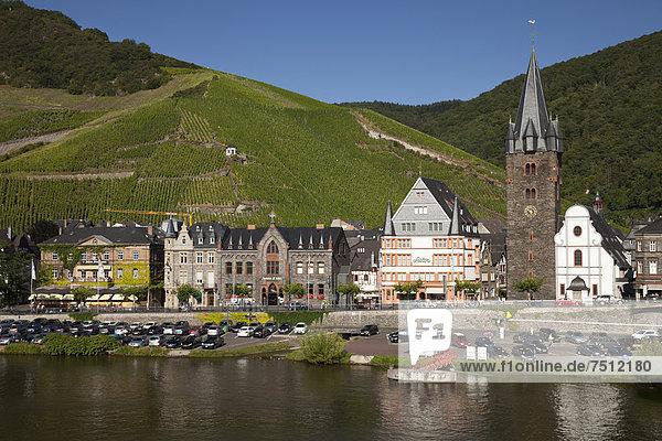 Europa Kirche Nostalgie Bernkastel-Kues Strömung Ortsteil Deutschland Rheinland-Pfalz Wachturm