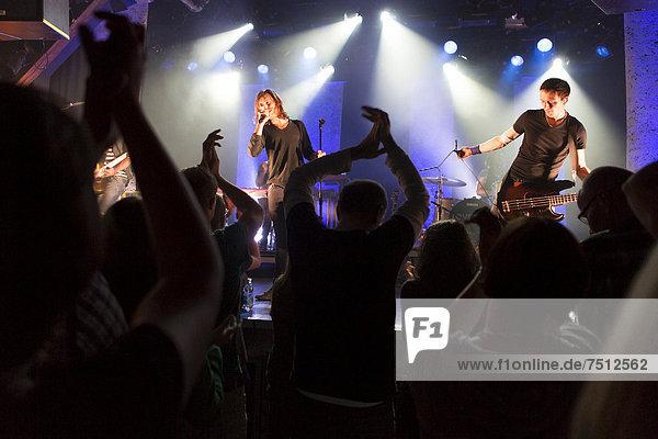 Swiss pop band Lovebugs performing live in the Schueuer concert hall  Lucerne  Switzerland  Europe