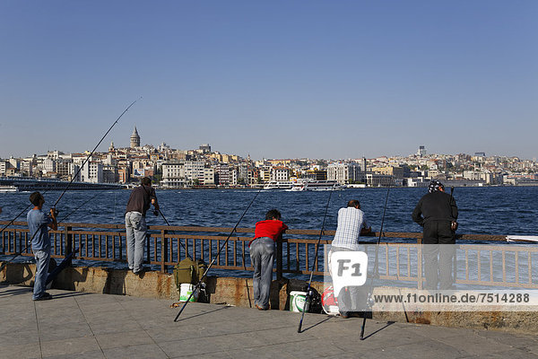 Europa, Rückansicht, Türkei, Goldenes Horn, Istanbul