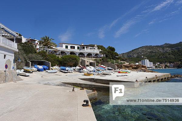 Bay of Sant Elm  municipality of Andratx  Sant Elm  Mallorca  Balearic Islands  Mediterranean Sea  Spain  Europe