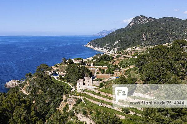 nahe Europa Mallorca Zimmer Balearen Balearische Inseln Banyalbufar Finca Mittelmeer Spanien