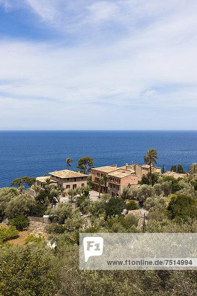 nahe Europa Herrenhaus Küste Mallorca Balearen Balearische Inseln Mittelmeer Spanien
