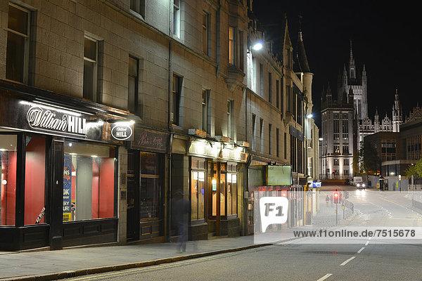 Europa Abend Großbritannien Laden Kneipe Schottland