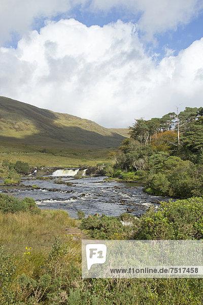 'Aasleagh-Wasserfall  Leenane  bekannt durch den Film ''The Field''  County Galway  Irland  Europa'