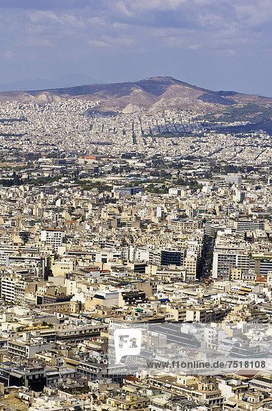 Athen Hauptstadt Europa Ansicht Berg Griechenland