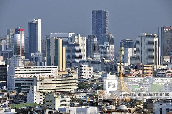 Bangkok Hauptstadt hoch oben Finanzen aufwärts Hotel Asien Ortsteil Thailand