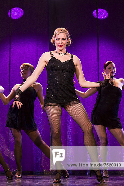 The musical Chicago with Natascha-Cecillia Hill as Velma Kelly live at the Le ThȂtre theatre in Kriens  Luzern  Switzerland  Europe