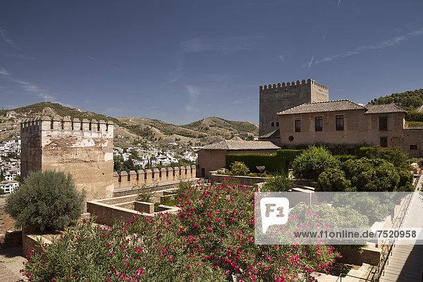 Alcazaba der Alhambra  UNESCO Welterbestätte  Granada  Andalusien  Spanien  Europa
