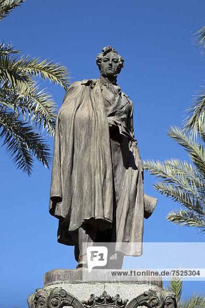Statue Duque de Rivas  Cordoba  Andalusien  Spanien  Europa  ÖffentlicherGrund