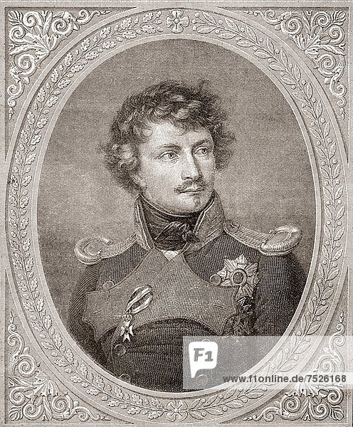 Ludwig I   1786 –1868 German king of Bavaria From Nuestro Siglo  published 1883
