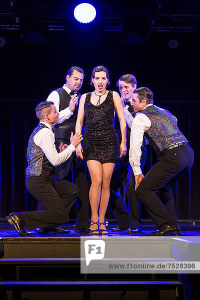 'Musical ''Chicago'' with Annette Krossa as Roxie Hart  live performance  Le ThȂtre in Kriens  Lucerne  Switzerland  Europe'
