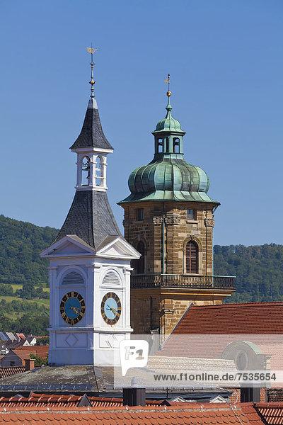 Europa Halle Stadt Kirche Aalen Baden-Württemberg Deutschland alt