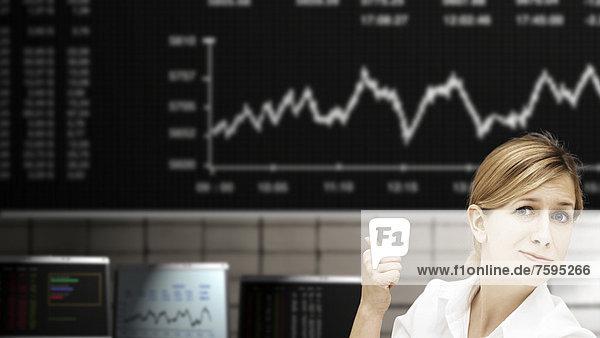 Geschäftsfrau an der Börse