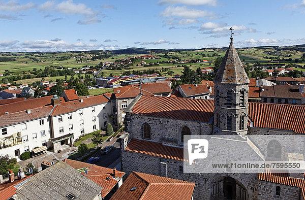 Village of Saugues  GÈvaudan  Margeride mountains  Monts de la Margeride  Haute Loire  Auvergne  France  Europe