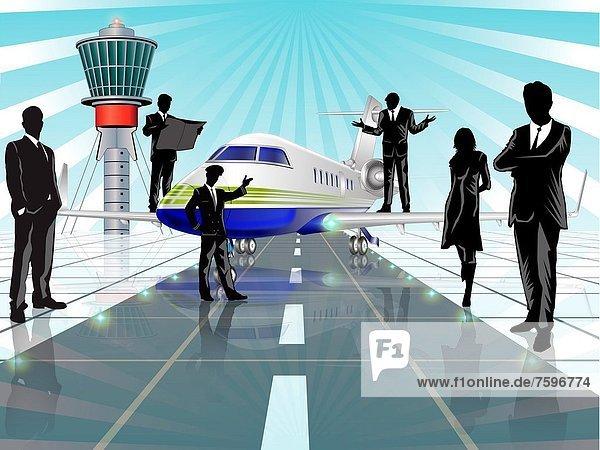 Flughafen  Wirtschaftsperson  Business