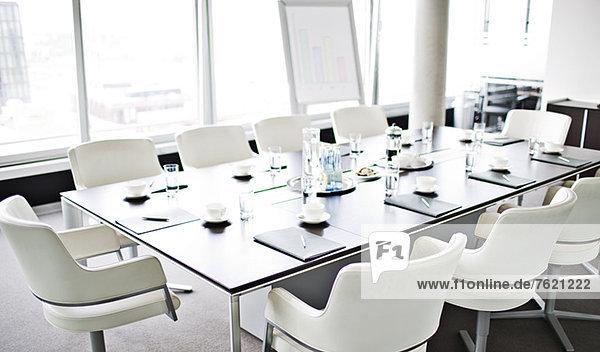 Tischset für die Besprechung im Büro