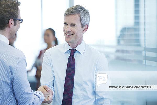 Geschäftsleute beim Händeschütteln im Amt