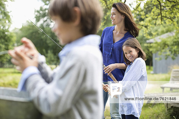 Familienangeln zusammen Familienangeln zusammen